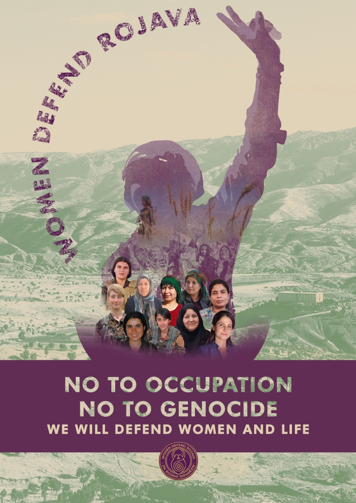women defend rojava poster 2021